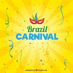 Brasil carnaval fundo amarelo