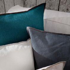 """Hideaway"" Pillow by Fine · www.labella-amara.com Chalet Chic, Linen Bedding, Throw Pillows, Dreams, Home, Cushion, Colors, Linen Sheets, Cushions"