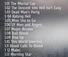 Official #Shadowhunters episode title names! omg they literally named an episode MALEC?!?!? 0.0