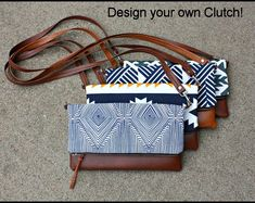 Southwestern Navajo Tribal fabric Bag with Faux Leather Sling Backpack Purse, Tribal Bags, Tribal Fabric, Foldover Clutch, Pocket Pattern, Handmade Handbags, Leather Cord, Design Your Own, Purses And Bags