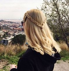 easy two braids half up hairstyle for medium hair