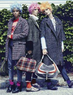 Ava Smith, Kate King, Jasmine Tookes   KT Auleta   Vogue Italia August2012