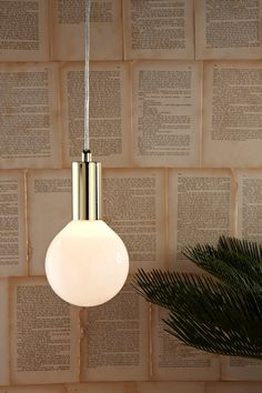 Simple metal light pendant with retro style bulb, comes in brass, chrome or copper finish Glass Pendant Light, Globe Pendant, Brass Pendant, Mini Pendant, Pendant Lighting, Lighting Online, Shop Lighting, Lamp Light, Light Bulb