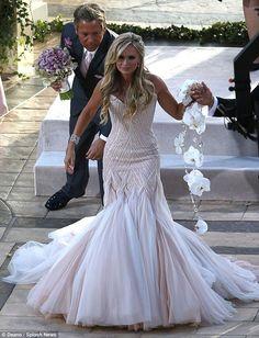 tamra barney wedding dress   Tamra Barney wedding photo walking down ...