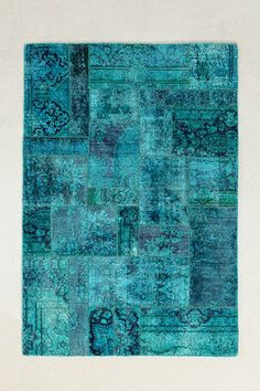 Vintage Turquoise Patchwork Woven Rug - Urban Outfitters