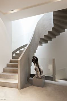 Olivier Lempereur Stairs Architecture, Architecture Details, Interior Architecture, Interior Stairs, Interior And Exterior, Stair Elevator, Take The Stairs, Stair Steps, House Stairs