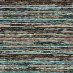 Prada - Interior Upholstery Fabric Color: Turquoise. Heavy Chenille With A Multi Colored Stria Pattern. It's Too Heavy To Make Draperies, But Upholsters Beautifully!  Suitable for Upholstery and Pillows only.
