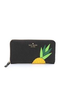 Kate Spade New York Lacey Pineapple Zip Around Wallet