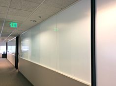 Total privacy film installed in office space.