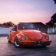 A super orange Super Beetle #comingsoon #volkswagen #indonesia   Photo by @blaketjones by thespeedhunters