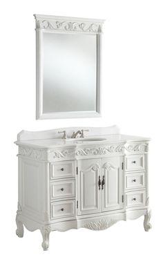 """42"""" Antique white Beckham Bathroom Sink Vanity & Mirror SW-3882W-AW-42MIR"""