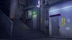 Episode Backgrounds, Anime Backgrounds Wallpapers, Anime Scenery Wallpaper, Wallpaper Desktop, Night Background, Art Background, Stairs Background, Landscape Concept, Fantasy Landscape