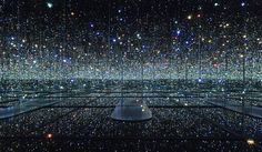 Art installation that is intriguing and creative; Japanese artist Yayoi Kusama has tried to create infinity.