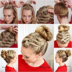 Creative Ideas: How to DIY Double Waterfall Triple French Braid Hairs tyle
