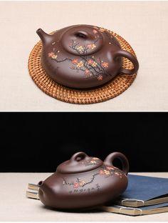 Bian Fu Teapot; Yixing purple clay handmade teapot