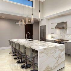 Kitchen Design Open, Luxury Kitchen Design, Contemporary Kitchen Design, Luxury Kitchens, Interior Design Kitchen, Home Kitchens, Interior Modern, Tuscan Kitchens, Modern Luxury