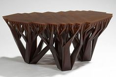 Unique and Different Model for Coffee Table: Because It Is Wood, Wooden Brown Tree Statue For Cofee Table