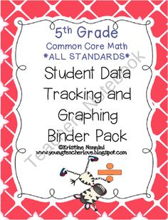 5th Grade Common Core Math Student Data Tracking Binder Pack *ALL STANDARDS* product from Miss-Nannini on TeachersNotebook.com