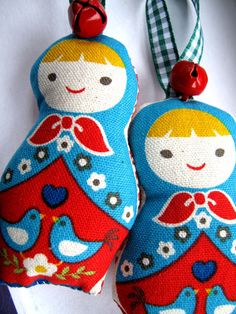 Christmas Babushka Decoration as shown in first picture x1 Aqua, Red, Green