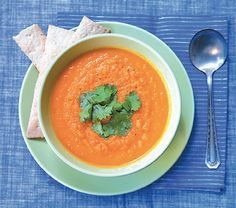Carrot, Orange and Ginger Soup | Edible Feast via Edible Santa Barbara