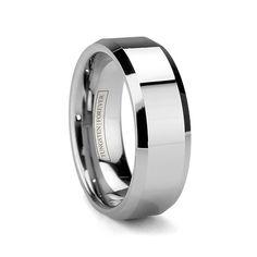 OLYMPUS 8MM High Polish Tungsten Carbide Wedding RIng for Men