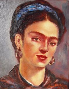 Beautiful Frida Kahlo painting by Mexican artist Amy Gastelum oil on canvas