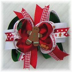 Christmas Hair Bows, Holiday Hairbows, Winter Hair Bows, Santa Hair Bows