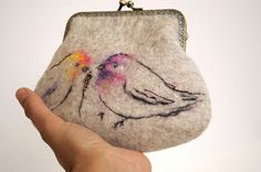 needle felted cosmetic bag - Google Search