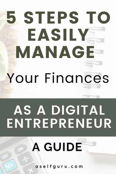 Struggling to manage your finances as an online entrepreneur? Check out these 5 essential tips to manage your finances easily. How to Organize Your Finances and Change your Life - 5 clear steps for getting your business finances organized and setting yourself up for a successful business ahead. #budgeting101 #financelessons, how to manage money as an entrepreneur, how to manage money like a pro #moneytips #moneymakingtips #moneymanagement Email Marketing, Content Marketing, Internet Marketing, Affiliate Marketing, Make Money Blogging, Money Tips, Make Money Online, How To Make Money, Successful Online Businesses