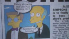 GHOSTMANS CARTOON CHOAS ALSO ON FACEBOOK CARTOONS ARE US: MR SMITHERS OUT OF THE CLOSET.