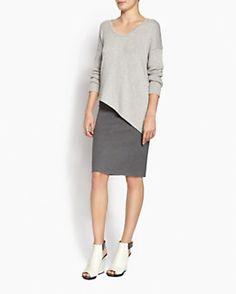 Jonathan Simkhai Stretch Knit Pencil Skirt