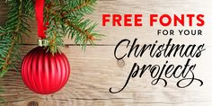 The great collection of holiday-inspired free fonts for your Christmas DIY projects!