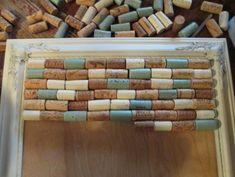 Wine Cork Bulletin Board - #diy #winecorks #corks #crafts
