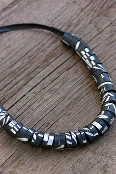 Cool patterned handmade bicycle inspired jewelry! Circular Innertube Necklace