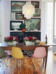 Love the table and pictures and floor and mix