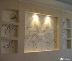 Картинки по запросу камин ниши на стене подсветка