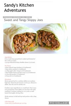 Sweet & Tangy Sloppy Joes Sandwich Sides, Salad Sandwich, Green Ideas, Lean And . - Lean and green meals - Protein Medifast Recipes, Beef Recipes, Cooking Recipes, Healthy Recipes, Chicken Recipes, Hamburger Recipes, Protein Recipes, Turkey Recipes, Healthy Meals