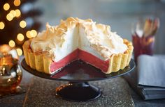 Sweet and airy meringue, zesty citrus and cranberry, and crumbly pastry make this magnificent meringue pie the perfect Christmas baking recipe to impress friends and family. | Tesco