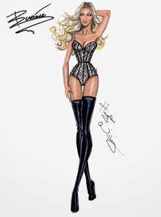 Hayden Williams Fashion Illustrations: Beyoncé Mrs. Carter Show World Tour collection by Hayden Williams: pt3