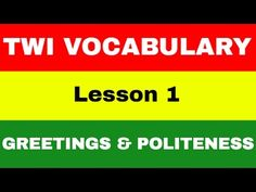 Twi language video - YouTube