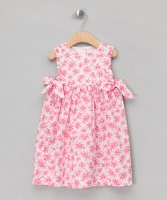 Take a look at this Coral Bon Bon Pinafore - Infant, Toddler & Kids by Mariella Ferrari on #zulily today!