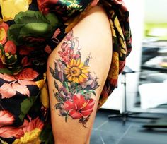 Flowers tattoo by Dynoz Art Attack