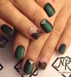 """Short nails are much easier for women. Especially working women prefer short nails. If you love short nails, you must see """"Wonderful Short Nail Desi. Cute Nail Designs for Short Nails You Definitely Need to Try # Classy Nail Art, Classy Nail Designs, Cute Nail Art Designs, Short Nail Designs, Nails Yellow, Green Nails, French Nails, Cute Nails, Pretty Nails"""