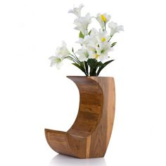 Buy One Thick Comma Wood Flower Vase Online Pot unique teakwood design flower vases ideas.  sc 1 st  Pinterest & 35 Best Vases Crystal Vase Flower Pots Flower Vase Flower ...