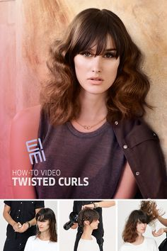 Get the Look: Twisted Curls How-to Video Try a modern take on classic curls with twisted curls. Watch our step-by-step video using new EIMI Perfect Me Lightweight BB Lotion and EIMI Grip Cream Styling Gel to tame, separate and shape your curly style. Twist Curls, Latest Hair Trends, Body Waxing, Salon Services, 2015 Hairstyles, Professional Hairstyles, Get The Look, Style Guides, Curly