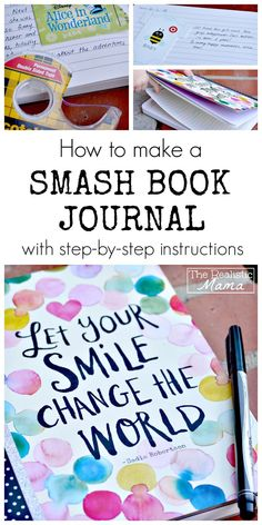 What is a Smash Book Journal? The easiest scrapbooking project mixed with journaling. A great way to get kids to love journaling and writing.