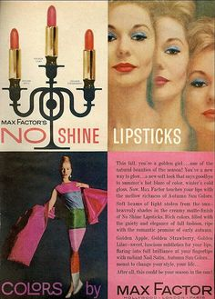 Max Factor, Mademoiselle, October 1961