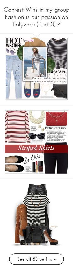 """""""Contest Wins in my group Fashion is our passion on Polyvore (Part 3) ♥"""" by irish-eyes-were-smiling ❤ liked on Polyvore featuring Soludos, stripedshirt, Chanel, Saint James, Emily & Ashley, Chloé, Carolee, Retrò, Anja and Balmain"""