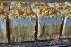Koláček ledové nebe | NejRecept.cz Dessert Recipes, Desserts, No Bake Cake, Tiramisu, Food To Make, Bakery, Food And Drink, Bread, Sweet