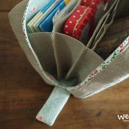 To create a separate compartment inside the square pouch [wibi]